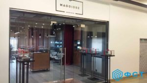 """Компания ФСТ. Портфолио работ. Торговое оборудование для бутиков """"Маggiore"""""""